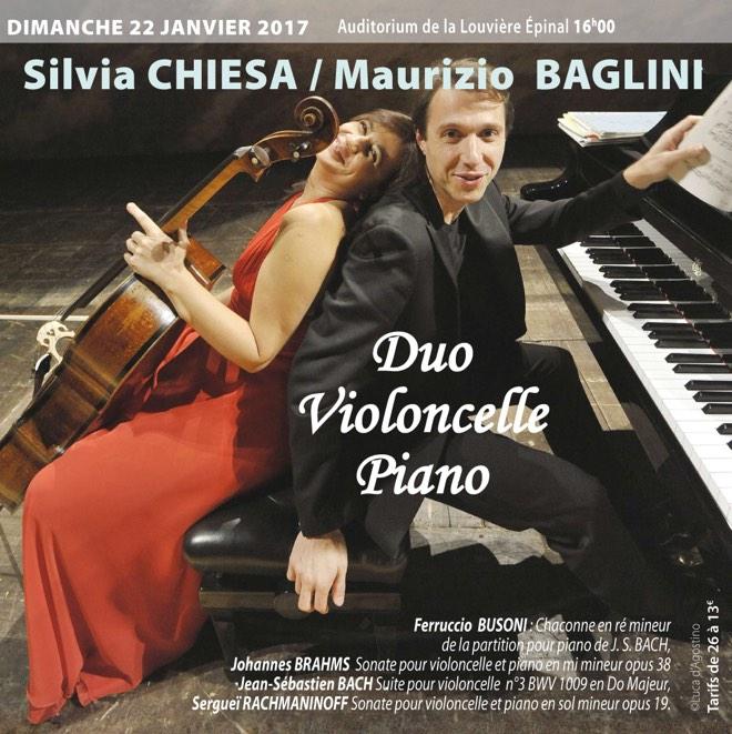 Duo Maurizio Baglini, piano - Silvia Chiesa, Violoncelle
